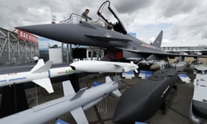 The increase in sales was helped by a £5bn order for Typhoon fighter jets made by BAE Systems.