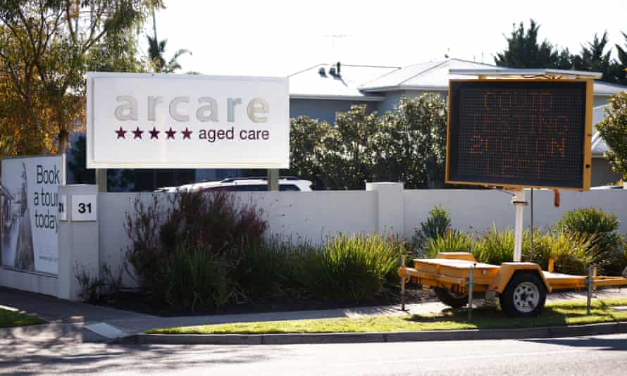 the Arcare aged care facility in Maidstone, Melbourne,