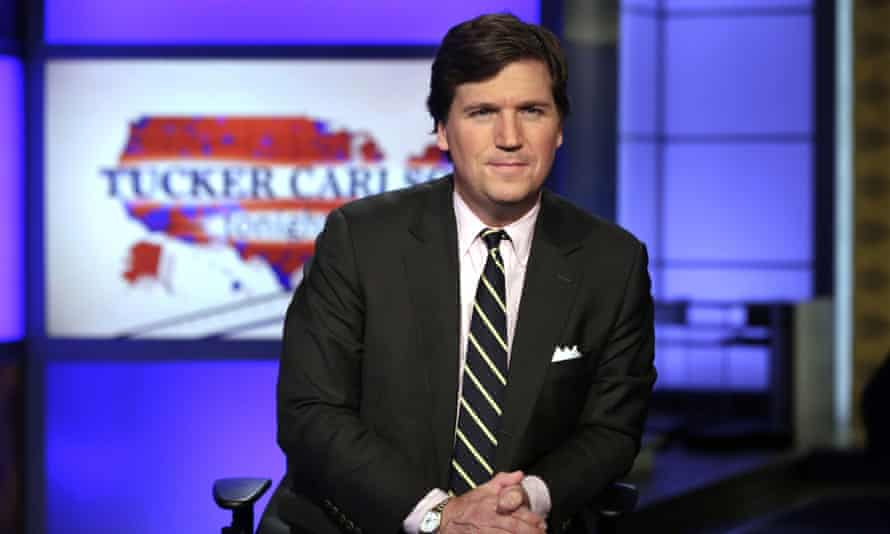 Tucker Carlson in March 2017. He said: 'This may be a lot of things, this moment we're living through, but it is definitely not about black lives.'