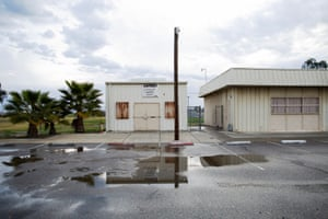The Lanare community center and defunct water treatment plant, Lanare, California, February 22nd, 2020. It is now also the site of two new deep wells established with $3.8 million in state funding. Lanare is home to roughly 550 people and had contaminated water for years