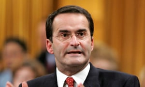 Former Canadian transport minister Jean Lapierre speaking in the House of Commons in Ottawa.