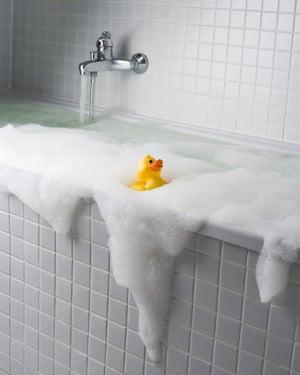 An overflowing bath