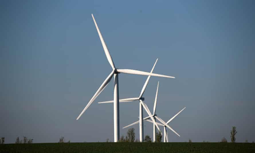 Wind turbines at Chelveston, Northamptonshire.