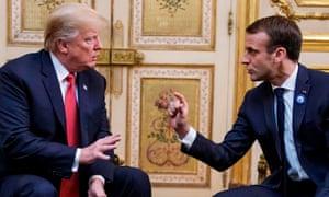 Trump and Macron held talks in Paris over the weekend.