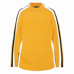 yellow white black jumper Net a Porter