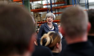 Theresa May on the campaign trail. Her dream of a landslide victory for the Conservative party has faltered as she watches her comfortable lead in the polls disappear.