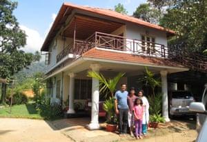 family outside kerala homestay house