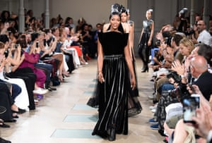 Naomi Campbell was there till the end - she opened the catwalk for Alaia's final fashion show, in July 2017.