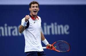 Pablo Carreno Busta deservedly wins the match.