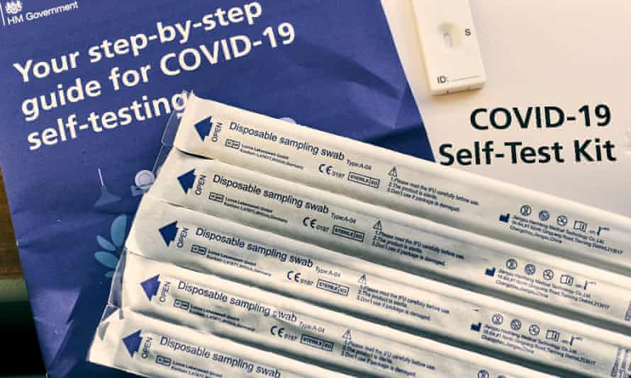 Covid-19 home test kits are seen