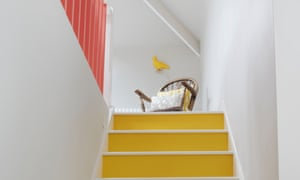Making an entrance: yellow risers make a feature of the stairs.