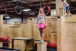 Elizabeth Swaney works out at the Apex Movement Norcal gym in Concord after work to practice for American Ninja Warrior.
