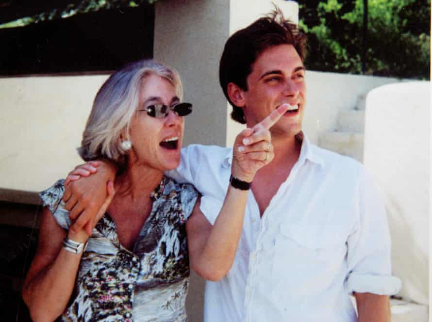 Lu Spinney with her son Miles, who suffered brain damage in a snowboarding accident and eventually died.