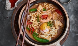 Korean food and drink food the guardian fast food judy joos recipe for spicy korean ramyun noodles forumfinder Image collections