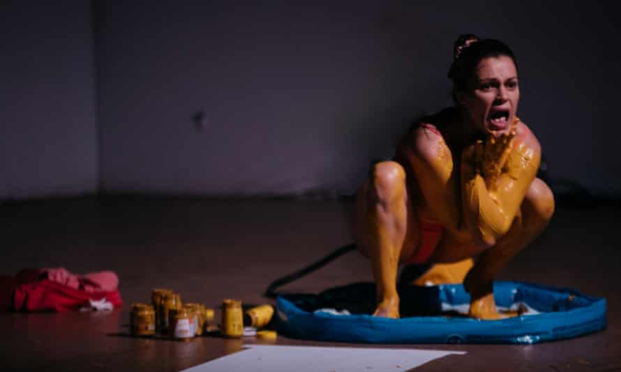 Anxiety … Eva O'Connor in Mustard.