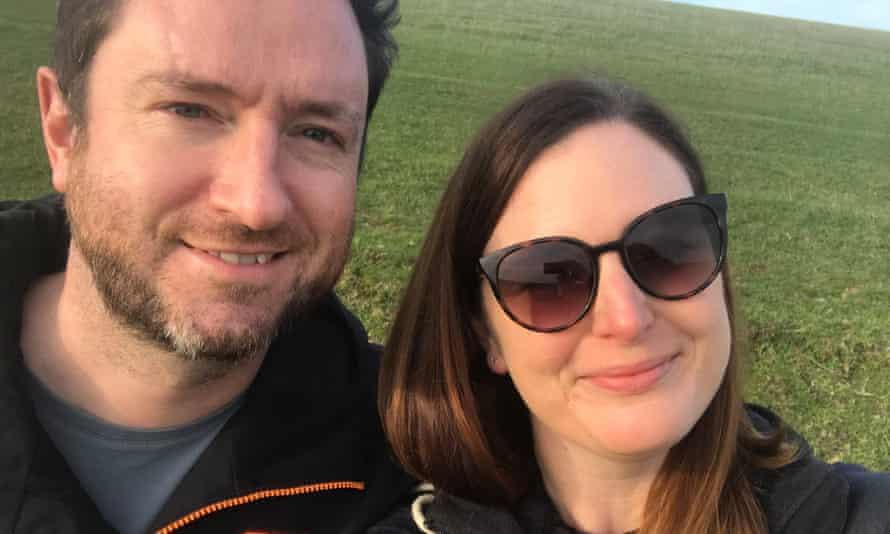 Camilla and John at Devil's Dyke, Sussex, in November 2020