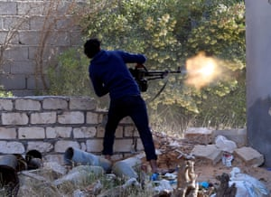 Government of National Accord (GNA) fighters clashes with eastern militia