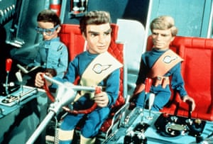 Rescue me … Brains in Thunderbird 2 with Virgil and Gordon Tracy.