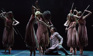 Cesar Corrales and Stina Quagebeur in Akram Khan's Giselle.