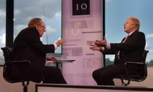 Boris Johnson in a rare interview (with Andrew Neil) during his campaign to become PM.