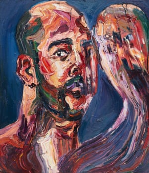 """Untitled self portrait by Myuran Sukumaran. Part of the exhibition """"Another Day in Paradise"""" at Sydney Festival 2017"""