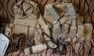 Suicide vests were left behind in the former Isis command centre in Ba'aj.