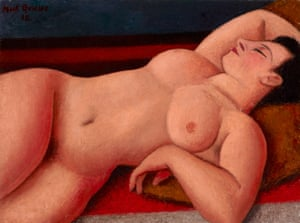Mark Gertler's Nude, painted in 1938.