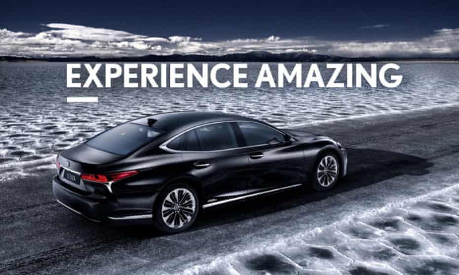 Experience amazing misuse of language, thanks to Lexus's advertisment.