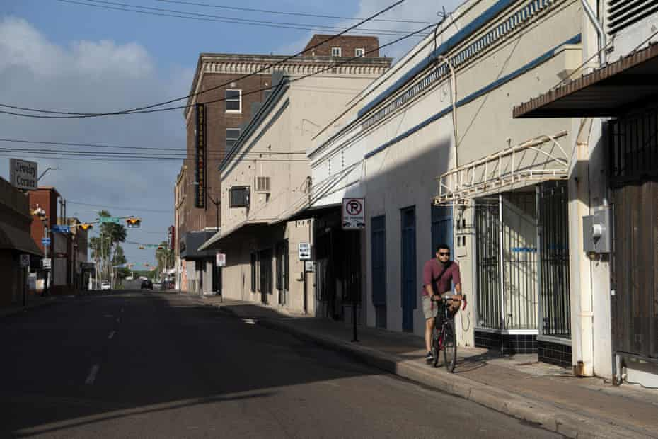 Downtown Brownsville, Texas, in the Rio Grande valley. Erosion of Democratic support took place even after high-profile Biden surrogates descended on the US-Mexico border.
