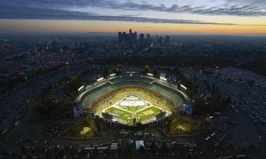 Dodger Stadium in Los Angeles, 2014.