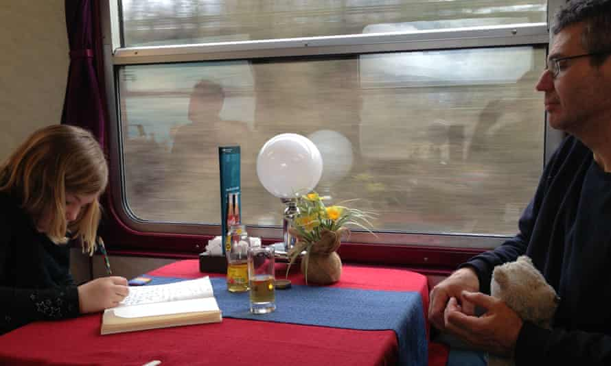 Father and daughter on interrail trip