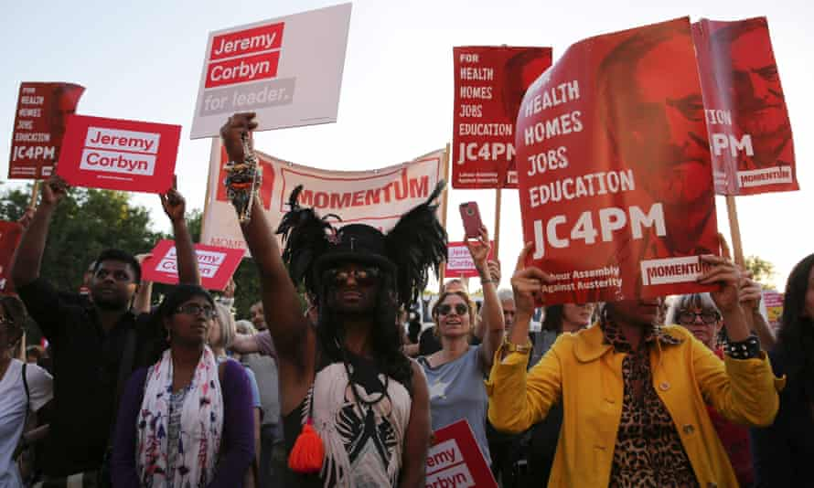 Momentum supporters last month … 'the activists understand the difference between principles and tactics'.