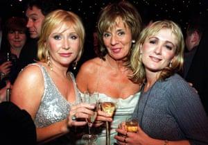 Carol Harrison, Sue Johnston and Caroline Aherne following the British soap awards in 1999