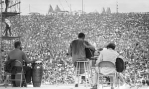 Richie Havens performs during Woodstock in August 1969.