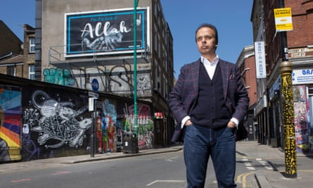 Ed Husain in Brick Lane, London, May 2018.