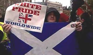 Peter Morgan at a neo-Nazi rally