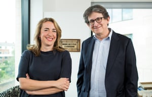 The Guardian's current editor Kath Viner with former editor Alan Rusbridger.