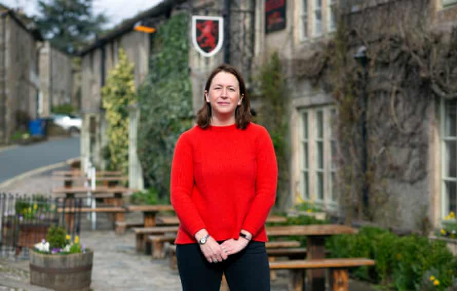 Katy Verot, co-owner (one of 4 sisters) of the Red Lion in Burnsall in the Yorkshire Dales