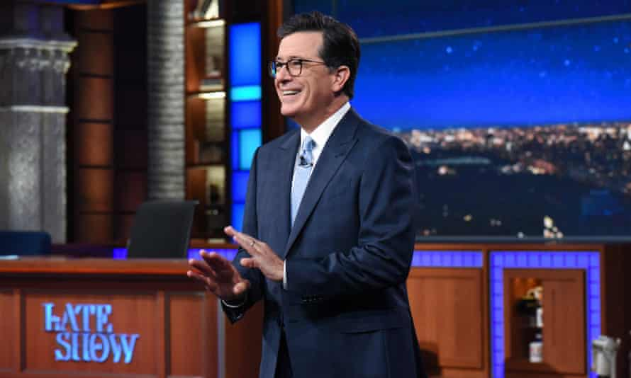 The Late Show with Stephen ColbertNEW YORK - SEPTEMBER 19: NEW YORK - SEPTEMBER 19: The Late Show with Stephen Colbert and guest during Tuesday's September 19, 2017 show. (Photo by Scott Kowalchyk/CBS via Getty Images)