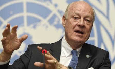 The UN's special envoy to Syria, Staffan de Mistura.