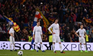 Paris Saint-Germain players look crestfallen after being knocked out of the Champions League by Barcelona in 2017 having surrendered a 4-0 first-leg lead.
