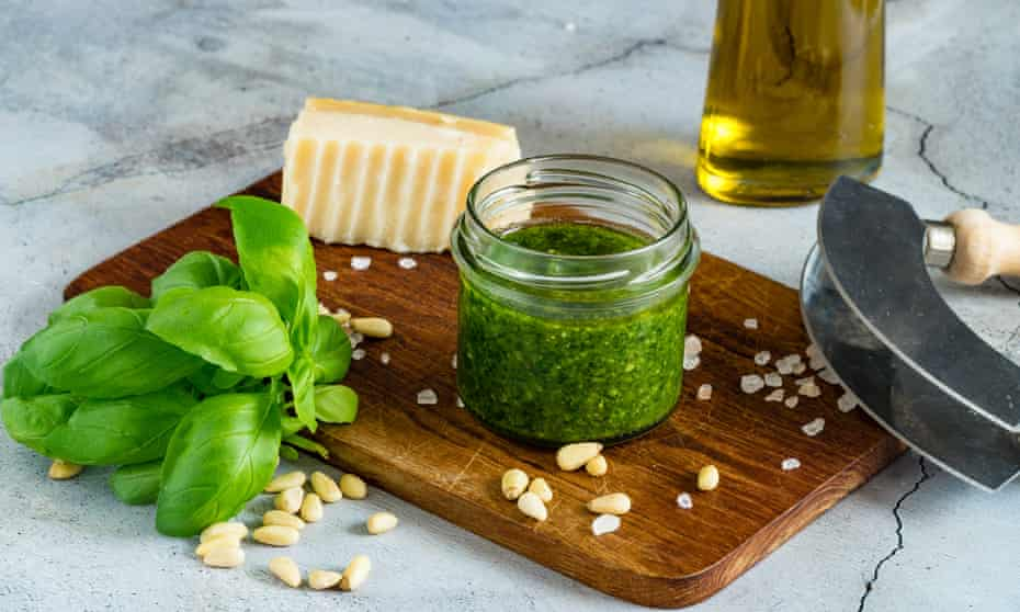 Feel free to blend it to taste … that is the pesto way.