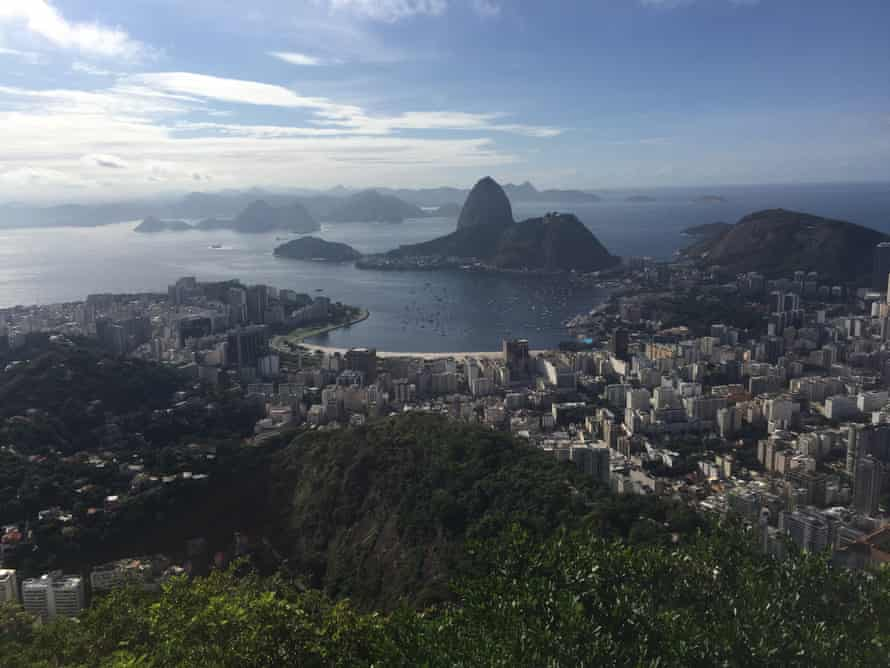 The view from the top of Corcovado, Rio de Janeiro