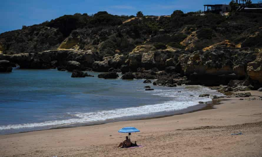 Oura beach in Albufeira, Portugal