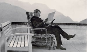 Adolf Hitler relaxes in the German mountain retreat of Obersalzberg.