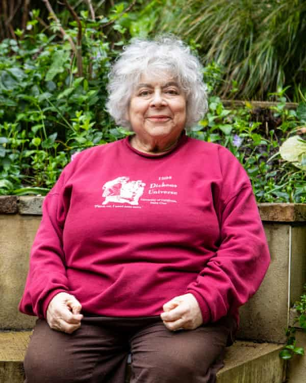 Miriam Margolyes at her home in London.
