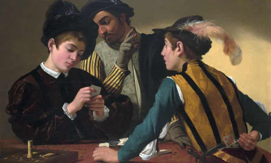 A detail from The Cardsharps by Caravaggio … Cardano drew on his knowledge of mathematics when gambling. Photograph: Alamy