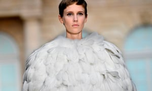 The challenge, says Waight Keller at Givenchy's autumn 2018 show, is to create 'a floorless feeling – to create something that floats'