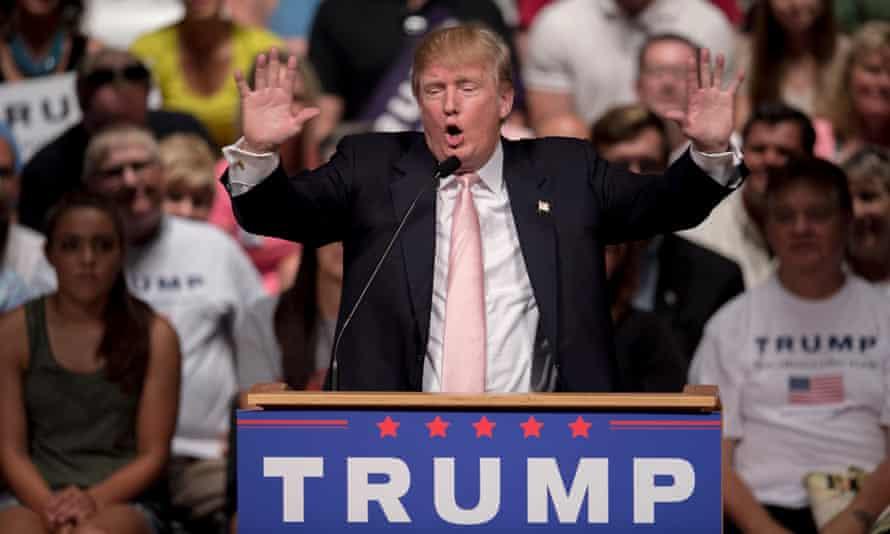 Donald Trump campaigns in Oskaloosa, Iowa.
