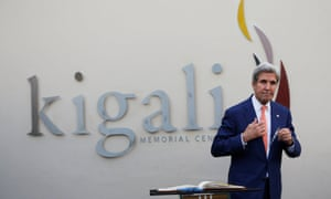 US secretary of state John Kerry in Kigali.